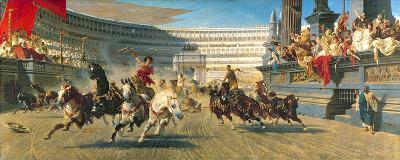 The Chariot Race, Detail-Alexander Von Wagner-Premium Giclee Print