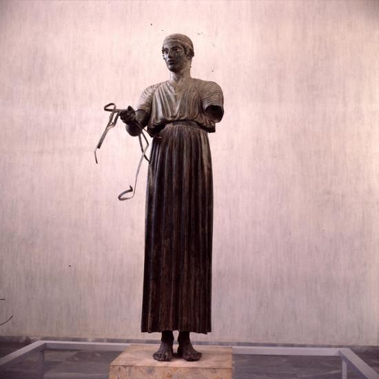 The Charioteer Bronze, Delphi, Greece, c475BC-470 BC-Unknown-Giclee Print