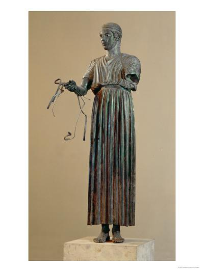 The Charioteer of Delphi, a Votive Offering from Polyzalos-Sotades-Giclee Print