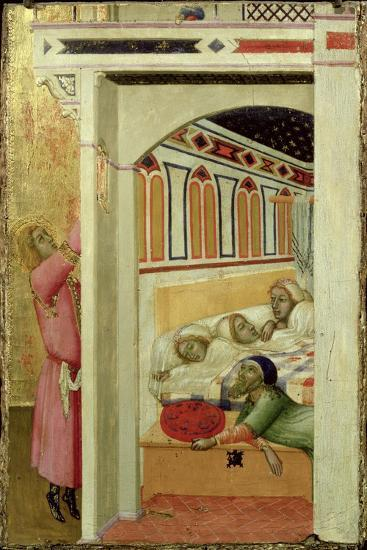 The Charity of St Nicholas of Bari-Ambrogio Lorenzetti-Giclee Print