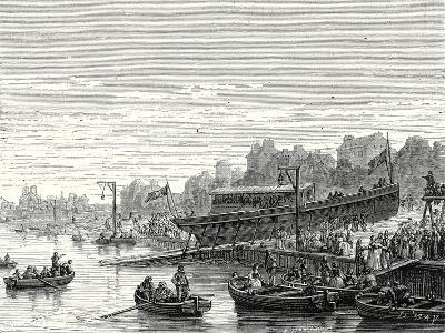 The 'Charles-Philippe' Launched on the Seine at Bercy by the Marquis De Jouffroy on 20 August 1816--Giclee Print