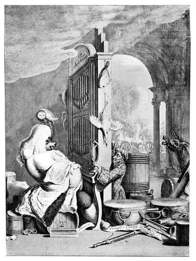The Charming Brute, (A Satire on Hande), 1754--Giclee Print