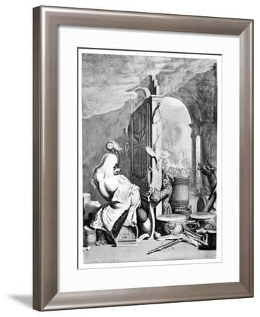 The Charming Brute, (A Satire on Hande), 1754--Framed Giclee Print