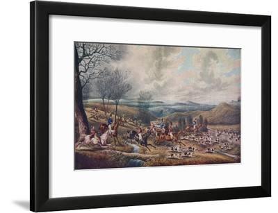 'The Chase of the Roebuck', 1834.-Henry Thomas Alken-Framed Giclee Print