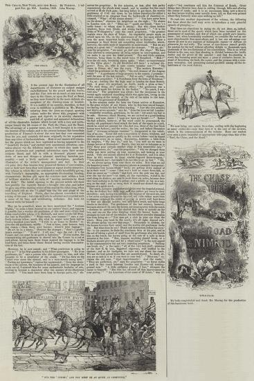 The Chase, the Turf and the Road, by Nimrod-Sir John Gilbert-Giclee Print