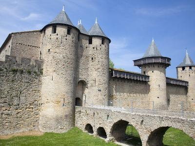 The Chateau Comtal Inside La Cite, Carcassonne, UNESCO World Heritage Site, Languedoc-Roussillon, F-David Clapp-Photographic Print