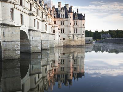 The Chateau of Chenonceau Reflecting in the Waters of the River Cher, UNESCO World Heritage Site, I-Julian Elliott-Photographic Print