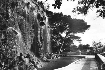 The Chateau Waterfall, Nice, South of France, Early 20th Century