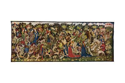 The Chatsworth Hunting Tapestries, Second of the Series, 1930-WG Thomas-Giclee Print