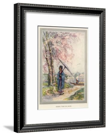 The Cherry Blossom Heralds the Coming of Spring, and Entices Everyone Out of Doors--Framed Giclee Print