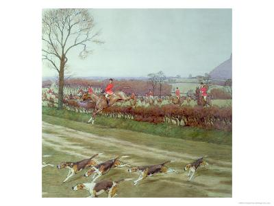 The Cheshire - Away from Tattenhall, 1912-Cecil Aldin-Giclee Print