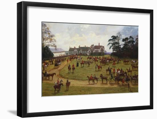 The Cheshire Hunt - the Meet at Calveley Hall-George Goodwin Kilburne-Framed Giclee Print