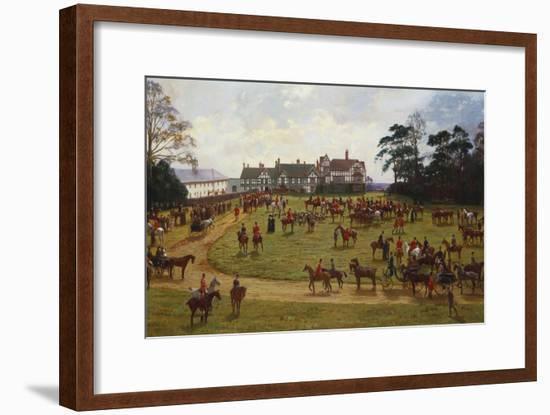 The Cheshire Hunt - the Meet at Calveley Hall-George Goodwin Kilburne-Framed Giclee Print