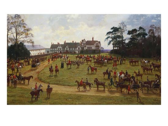 The Cheshire Hunt: the Meet at Calverly Hall-George Goodwin Kilburne-Giclee Print