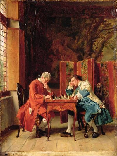 The Chess Players, 1856-Jean-Louis Ernest Meissonier-Giclee Print
