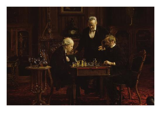 The Chess Players-Thomas Cowperthwait Eakins-Art Print