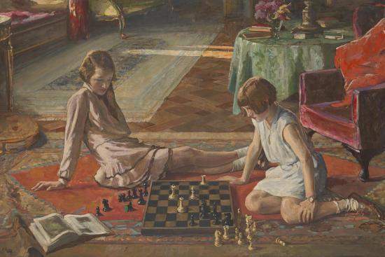 The Chess Players-Sir John Lavery-Giclee Print