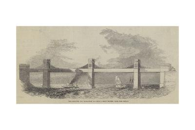 The Chester and Holyhead Railway, Iron Tunnel over the Menai--Giclee Print