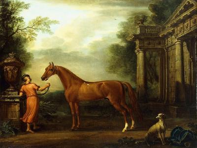 The Chestnut Arabian of Hampton Court, C.1726-John Wootton-Giclee Print