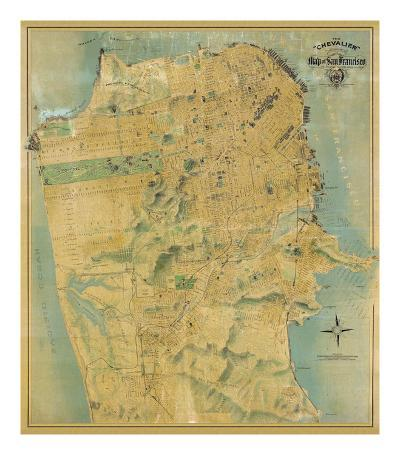 The Chevalier Map of San Francisco, c.1911-August Chevalier-Art Print
