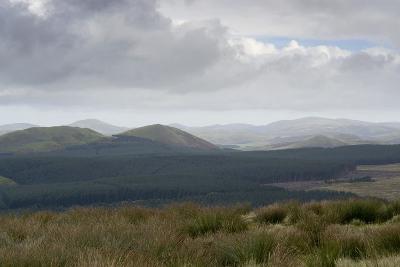 The Cheviot Hills, Seen from Carter Bar, Scottish/English Border, UK--Photographic Print