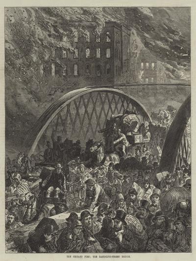 The Chicago Fire, the Randolph-Street Bridge--Giclee Print