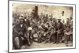 The Chief of Abeokuta and His Friends, Nigeria, C.1880