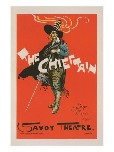 The Chieftain - Savoy Theatre-Dudley Hardy-Art Print