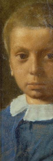 The Child in Blue-Edgar Degas-Premium Giclee Print