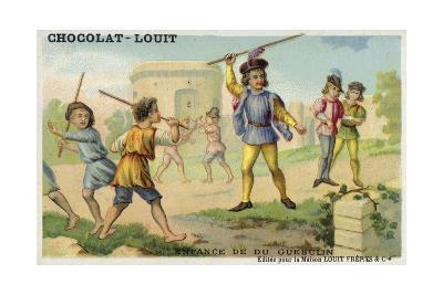 The Childhood of Bertrand Du Guesclin--Giclee Print