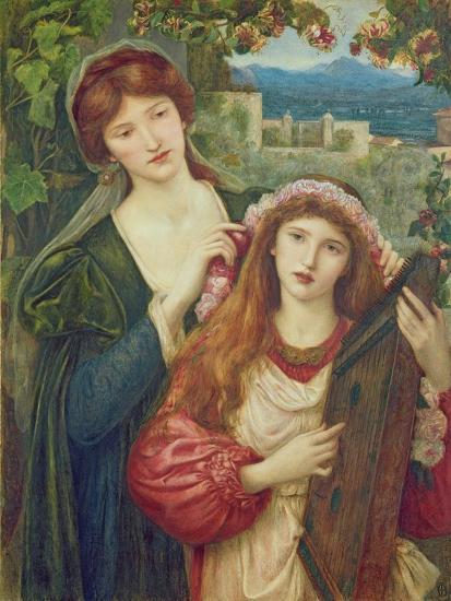 The Childhood of Saint Cecily-Marie Spartali Stillman-Giclee Print