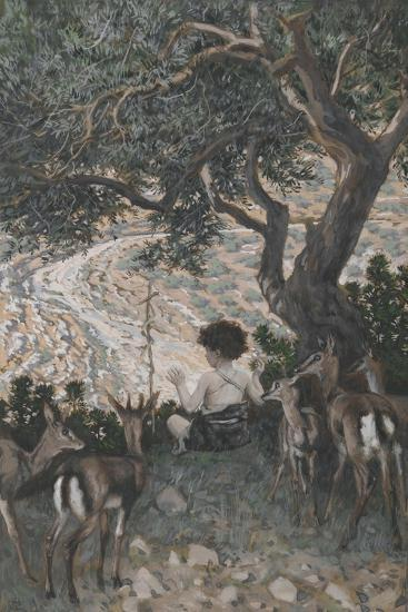 The Childhood of Saint John the Baptist from 'The Life of Our Lord Jesus Christ'-James Jacques Joseph Tissot-Giclee Print