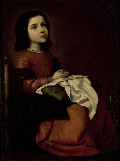 The Childhood of the Virgin, c.1660-Francisco de Zurbar?n-Giclee Print
