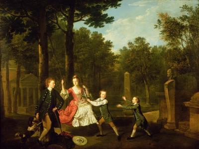 The Children of the 4th Duke of Devonshire-Johann Zoffany-Giclee Print