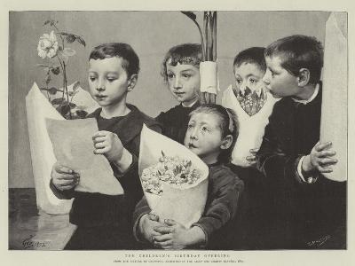 The Children's Birthday Offering--Giclee Print
