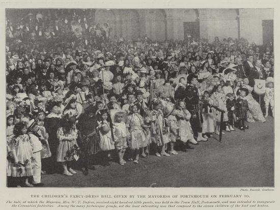 The Children's Fancy-Dress Ball Given by the Mayoress of Portsmouth on 10 February--Giclee Print