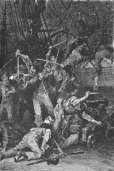 The Chilian Cutlasses Swept The Deck, 1902-Unknown-Giclee Print