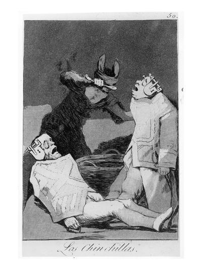 The Chinchillas, Plate 50 of 'Los Caprichos', 1799 (Etching and Aquatint)-Francisco de Goya-Giclee Print