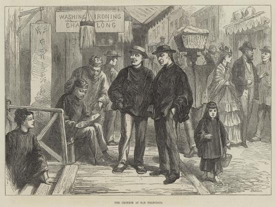 The Chinese at San Francisco--Giclee Print