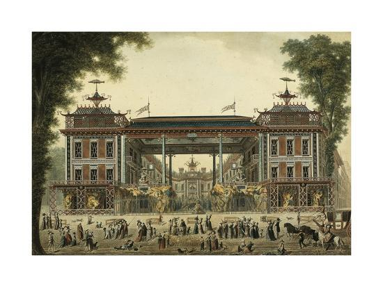 The Chinese Baths and Boulevard Des Italiens--Giclee Print