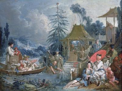 The Chinese Fishermen, circa 1742-Francois Boucher-Giclee Print