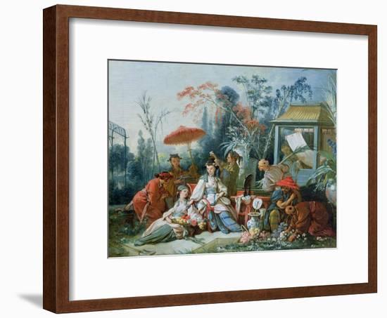 The Chinese Garden, circa 1742-Francois Boucher-Framed Giclee Print