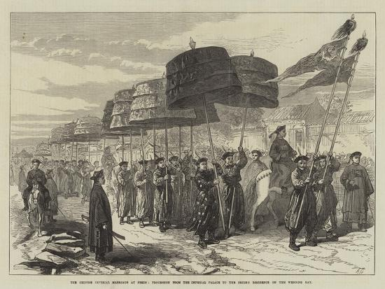 The Chinese Imperial Marriage at Pekin--Giclee Print