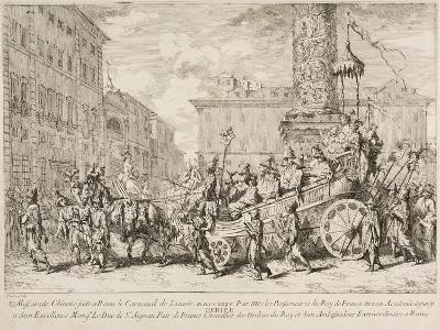 The Chinese Mascarade, 1735-Jean Baptiste Marie Pierre-Giclee Print