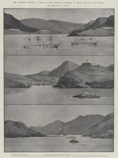 The Chinese Question, Views of the Stations Acquired by Great Britain and Russia-Charles Auguste Loye-Giclee Print