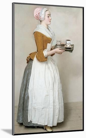 The Chocolate Girl-Jean-Etienne Liotard-Mounted Giclee Print