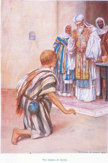The Choice of David-Arthur A^ Dixon-Giclee Print