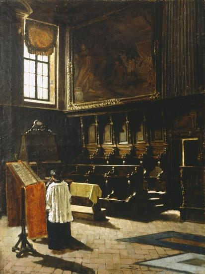 The Choir of the Church of St Anthony in Milan, 1879-Giovanni Segantini-Giclee Print