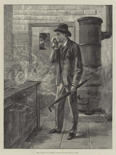 The Cholera at Hamburg, Fumigating Our Special Artist--Giclee Print