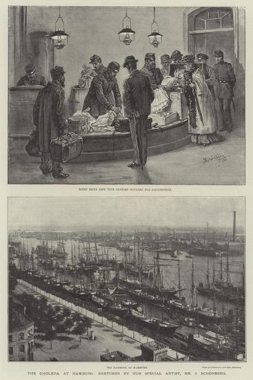 The Cholera at Hamburg-Johann Nepomuk Schonberg-Giclee Print